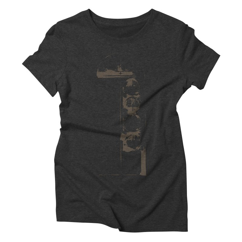 Door of Reception Women's Triblend T-shirt by Irresponsible People Black T-Shirts