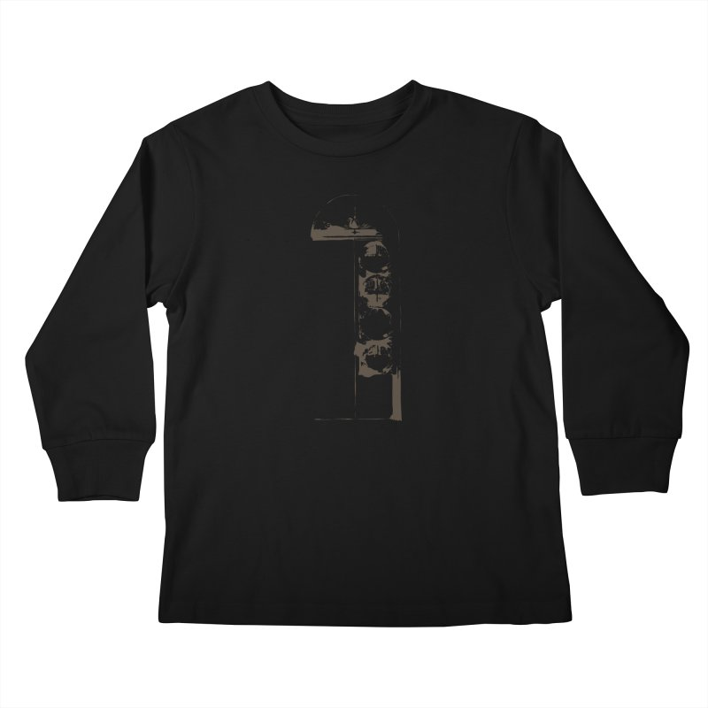 Door of Reception Kids Longsleeve T-Shirt by Irresponsible People Black T-Shirts