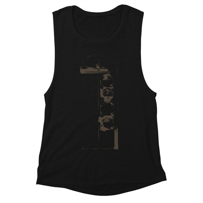 Door of Reception Women's Muscle Tank by Irresponsible People Black T-Shirts