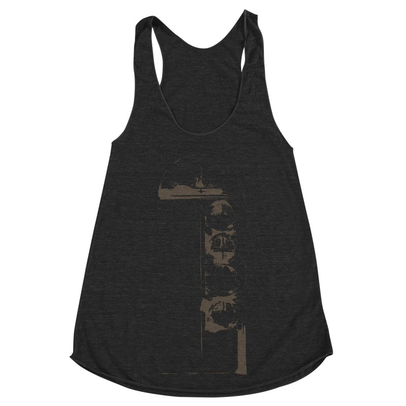 Door of Reception Women's Racerback Triblend Tank by Irresponsible People Black T-Shirts