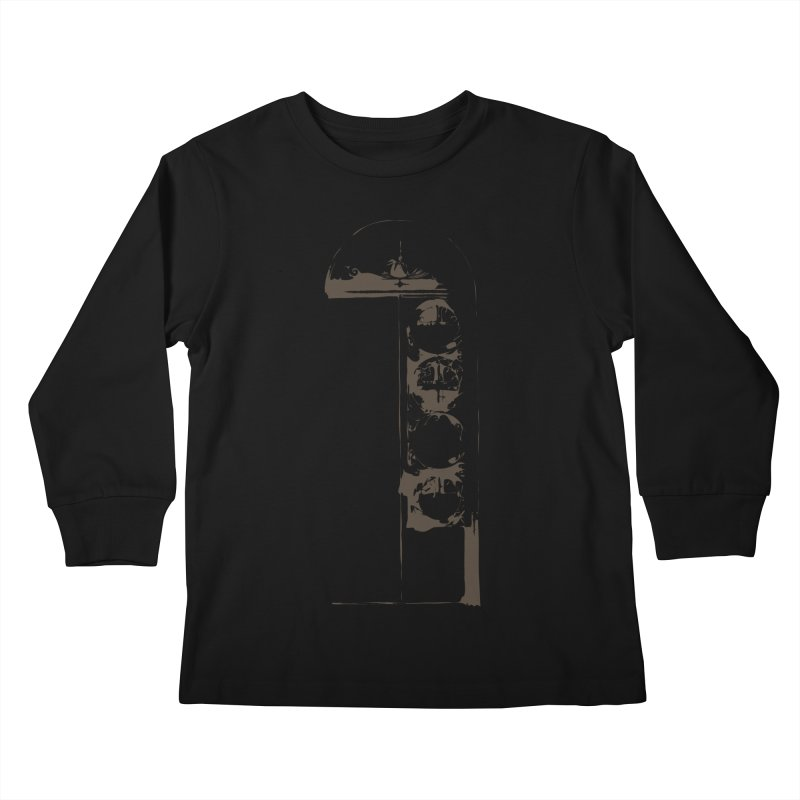 Door of Reception Kids Longsleeve T-Shirt by Irresponsible People Black T-Shirts