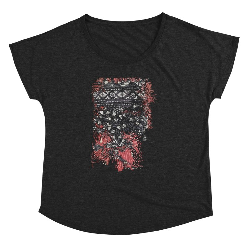 Embroidered Truths Women's Dolman by Irresponsible People Black T-Shirts