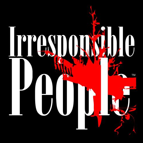 Irresponsible People Black T-Shirts Logo