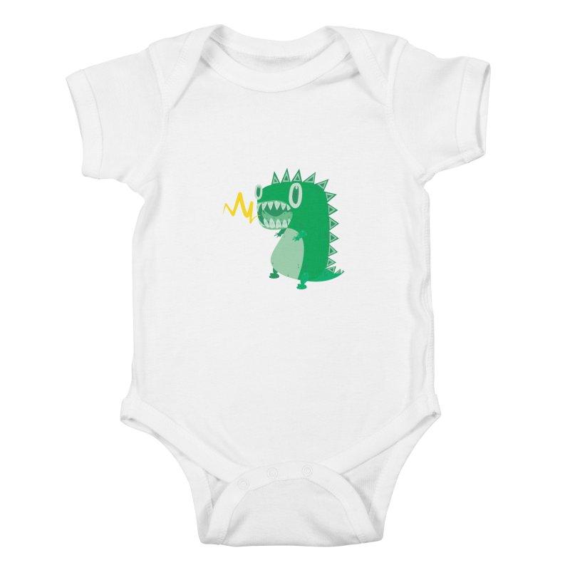 RAWRRR! Kids Baby Bodysuit by Ismewayoflife