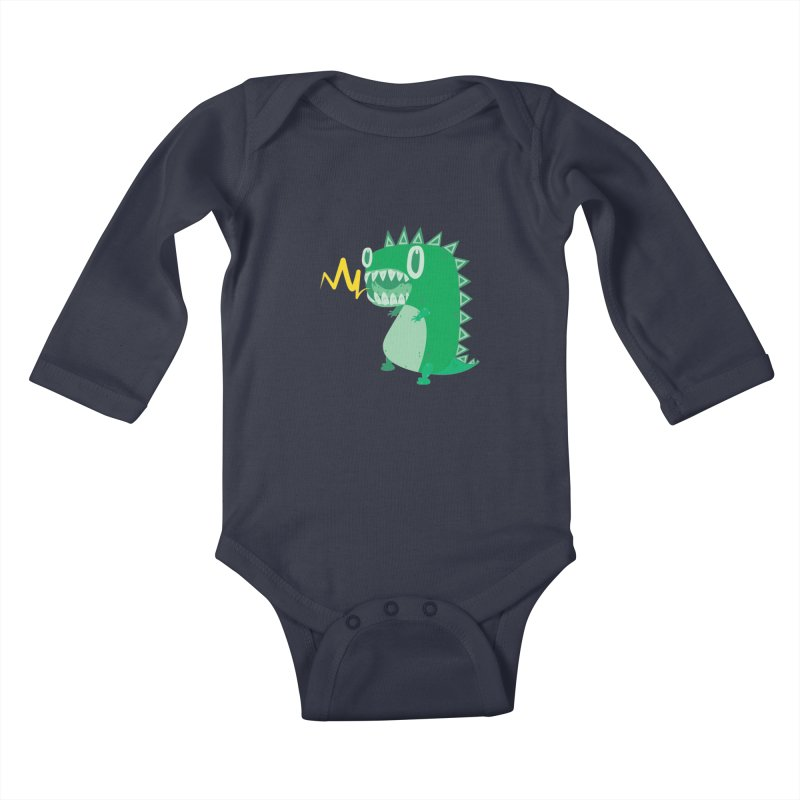 RAWRRR! Kids Baby Longsleeve Bodysuit by Ismewayoflife