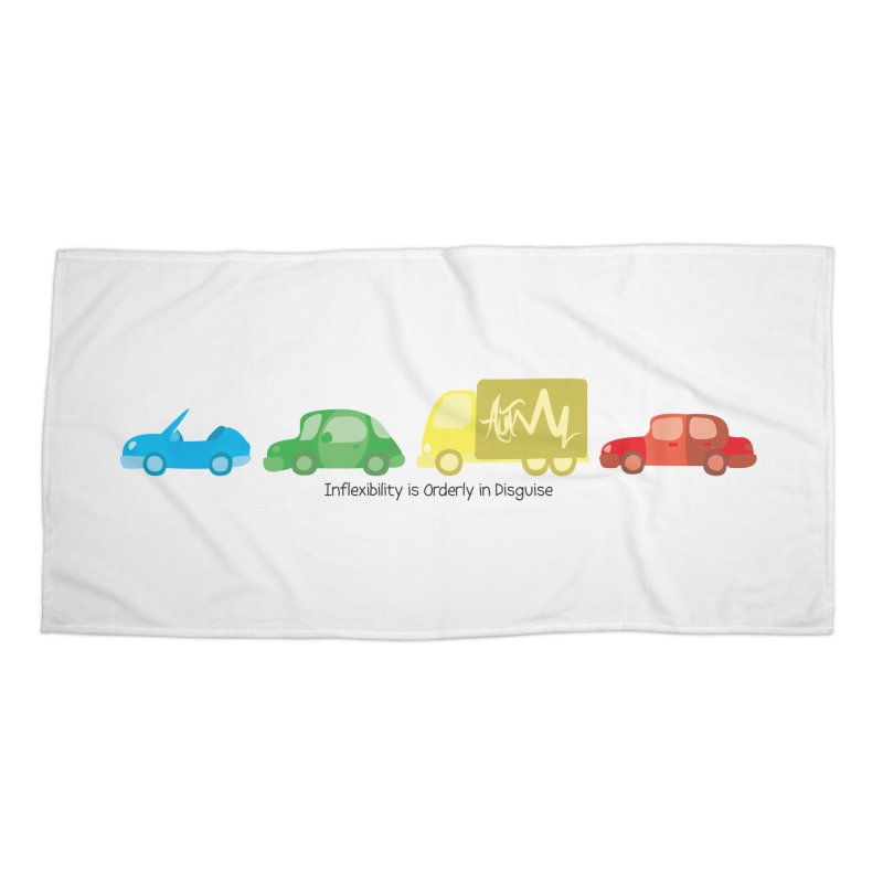 Inflexibility is Orderly in Disguise - Autisme Accessories Beach Towel by Ismewayoflife