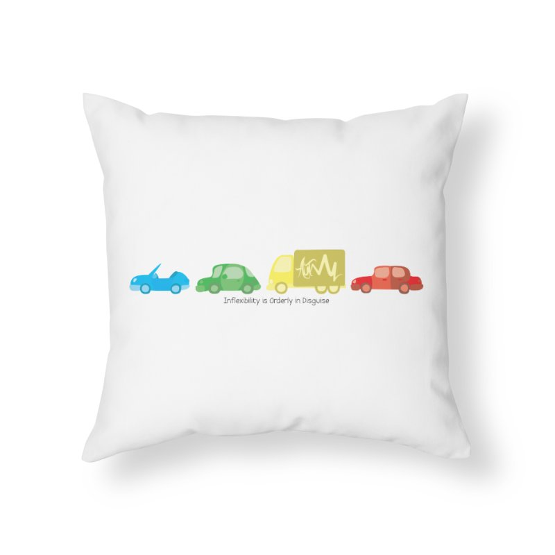 Inflexibility is Orderly in Disguise - Autisme Home Throw Pillow by Ismewayoflife