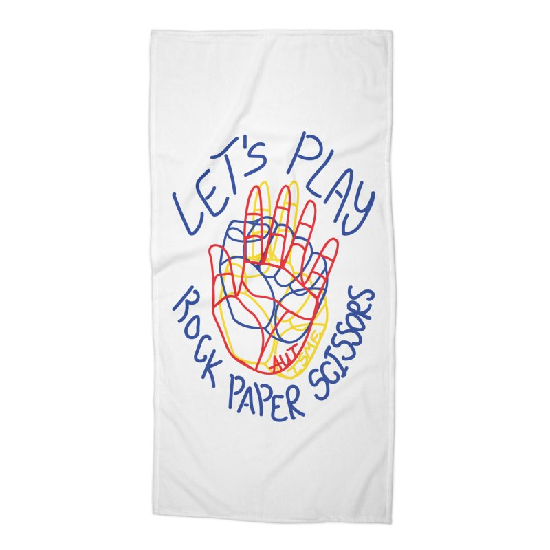 Let's Play! - Autisme Accessories Beach Towel by Ismewayoflife