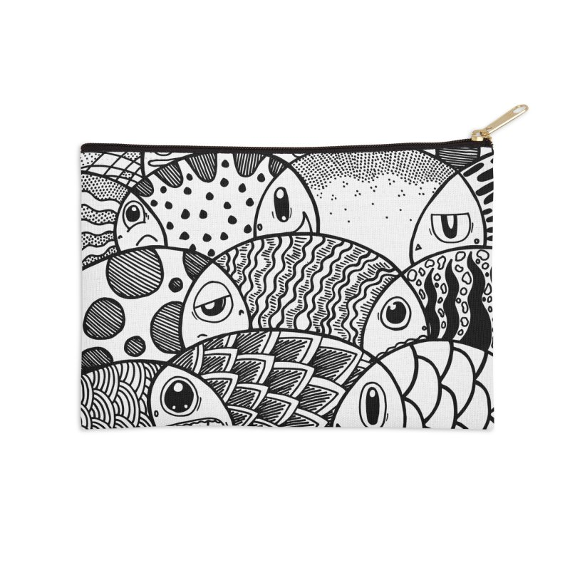 School of Patterns Accessories Zip Pouch by Ismewayoflife