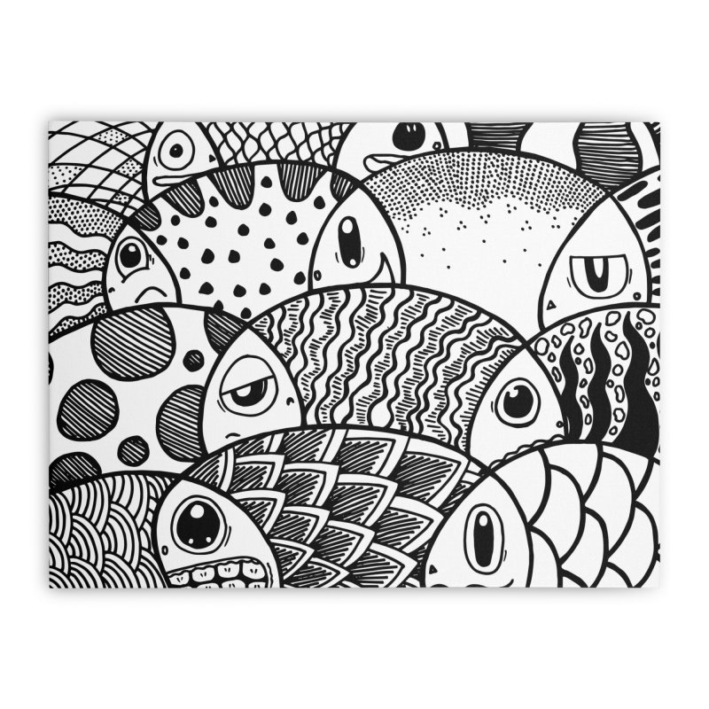 School of Patterns Home Stretched Canvas by Ismewayoflife