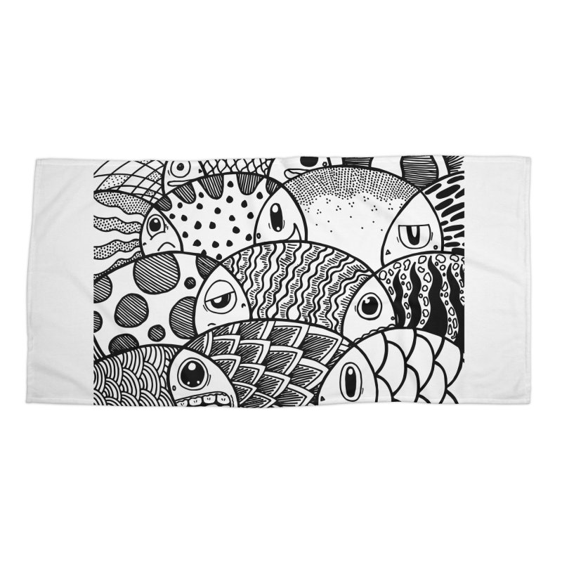 School of Patterns Accessories Beach Towel by Ismewayoflife