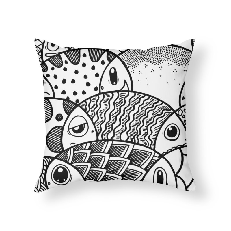 School of Patterns Home Throw Pillow by Ismewayoflife