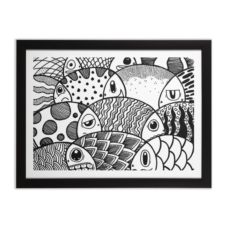 School of Patterns Home Framed Fine Art Print by Ismewayoflife