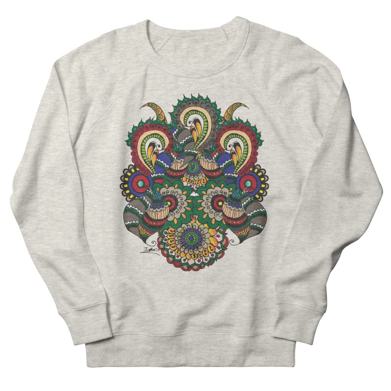 Rorchach Test's Hippie sister Men's French Terry Sweatshirt by Iythar's Artist Shop