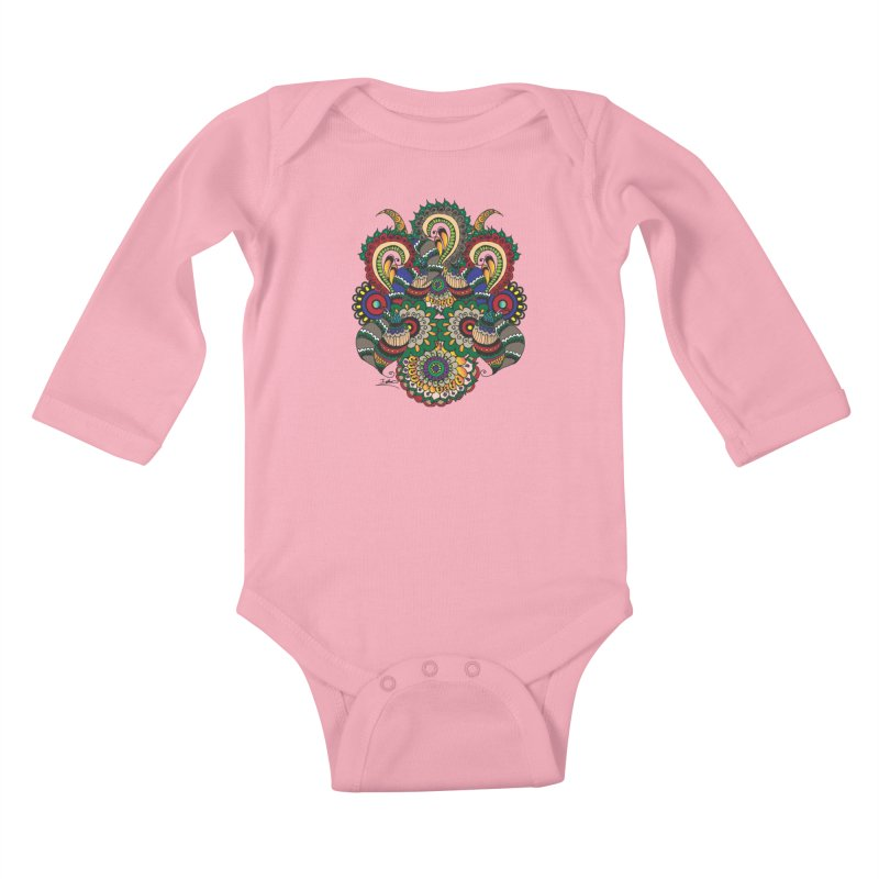 Rorchach Test's Hippie sister Kids Baby Longsleeve Bodysuit by Iythar's Artist Shop