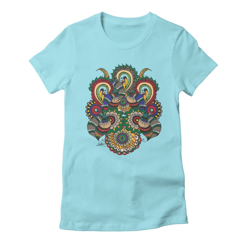 Rorchach Test's Hippie sister Women's Fitted T-Shirt by Iythar's Artist Shop