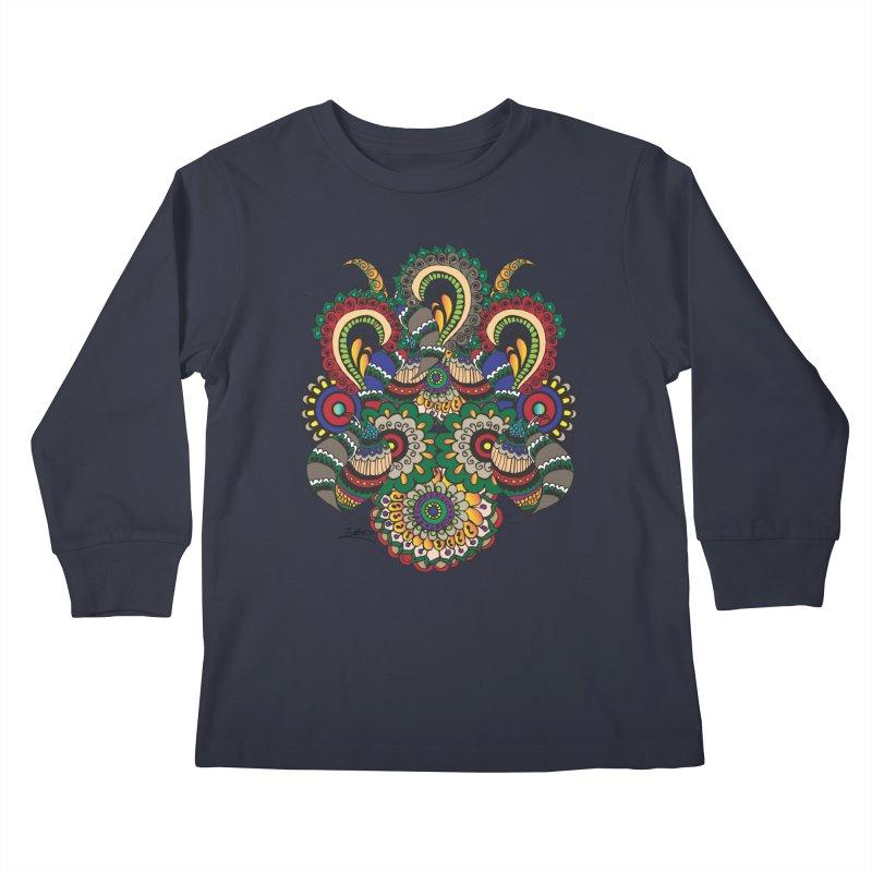 Rorchach Test's Hippie sister Kids Longsleeve T-Shirt by Iythar's Artist Shop