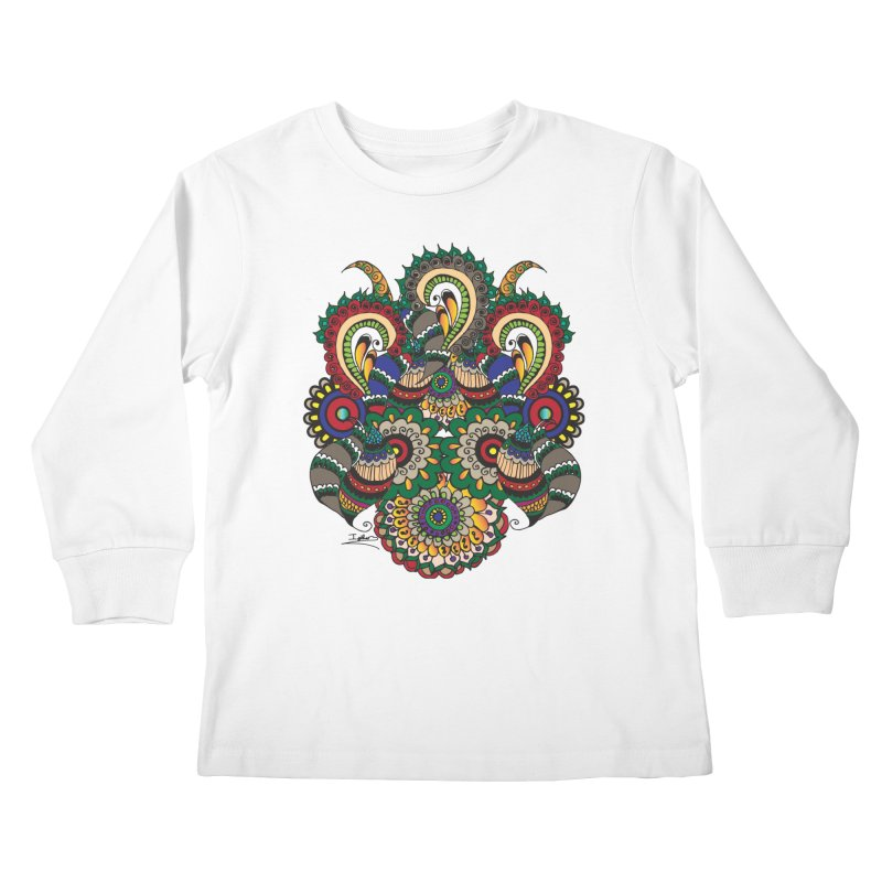 Rorchach Test's Hippie sister Kids Longsleeve T-Shirt by Iythar's Artist Shop