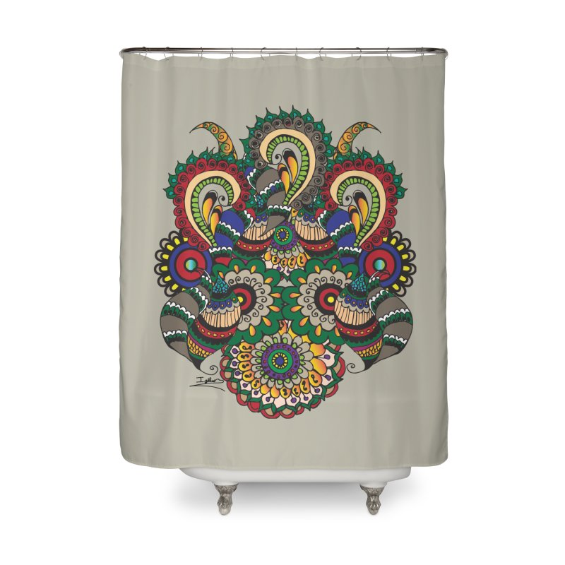 Rorchach Test's Hippie sister Home Shower Curtain by Iythar's Artist Shop