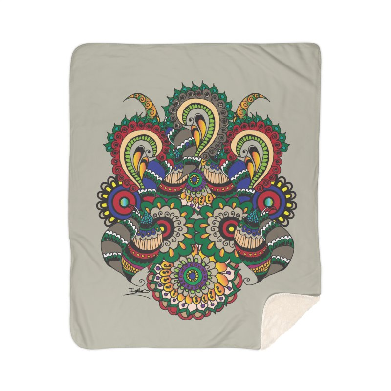 Rorchach Test's Hippie sister Home Sherpa Blanket Blanket by Iythar's Artist Shop
