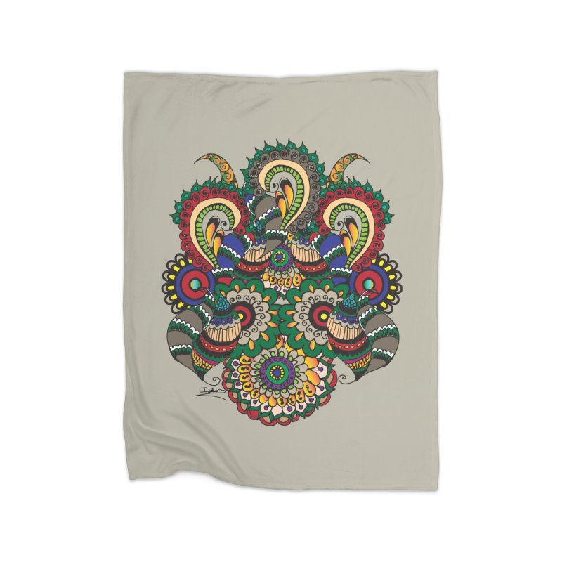 Rorchach Test's Hippie sister Home Fleece Blanket Blanket by Iythar's Artist Shop
