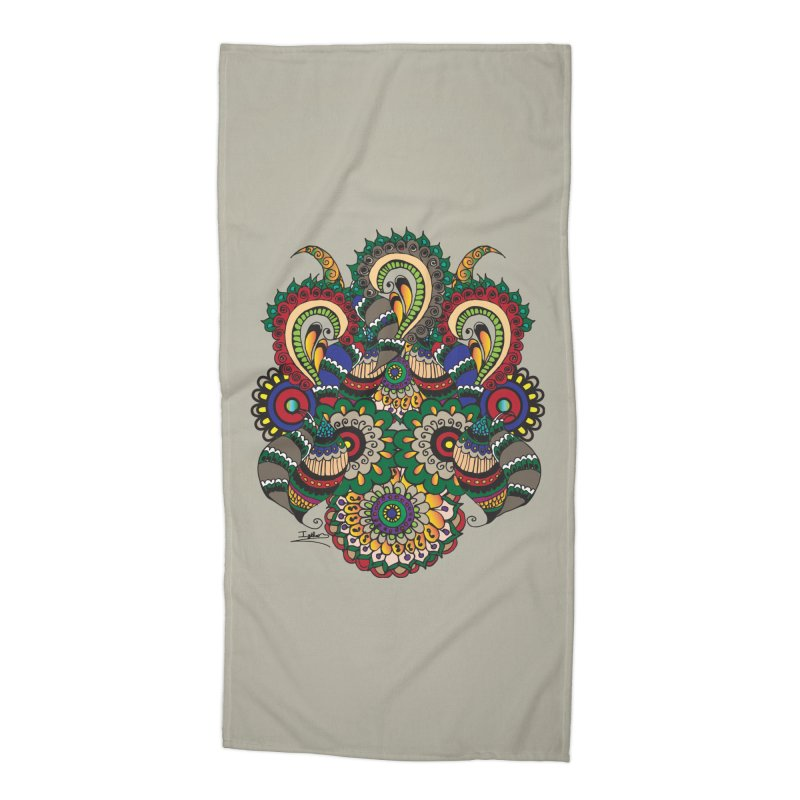 Rorchach Test's Hippie sister Accessories Beach Towel by Iythar's Artist Shop