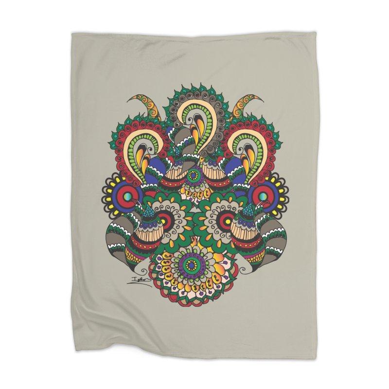 Rorchach Test's Hippie sister Home Blanket by Iythar's Artist Shop