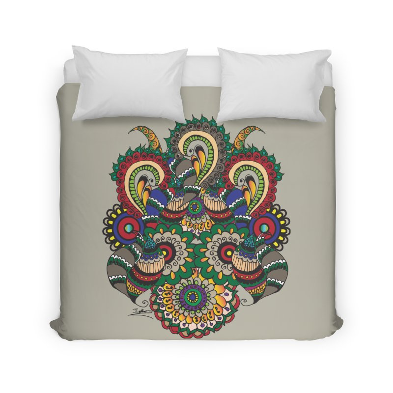 Rorchach Test's Hippie sister Home Duvet by Iythar's Artist Shop