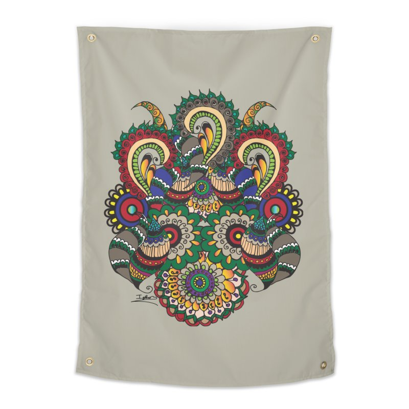 Rorchach Test's Hippie sister Home Tapestry by Iythar's Artist Shop