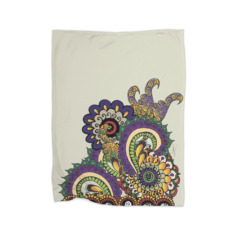 Sea Coral Home Fleece Blanket Blanket by Iythar's Artist Shop