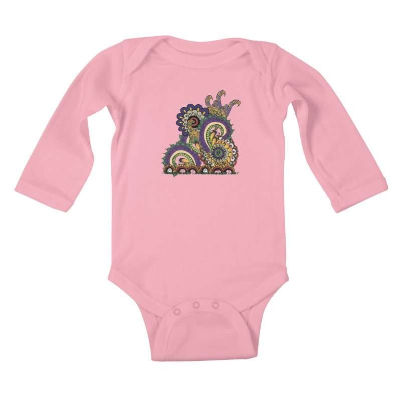 Sea Coral Kids Baby Longsleeve Bodysuit by Iythar's Artist Shop