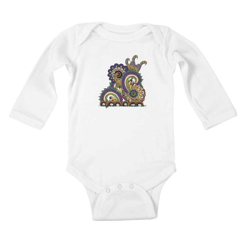 Sea Coral Kids Baby Longsleeve Bodysuit by Iythar's Artist Shop