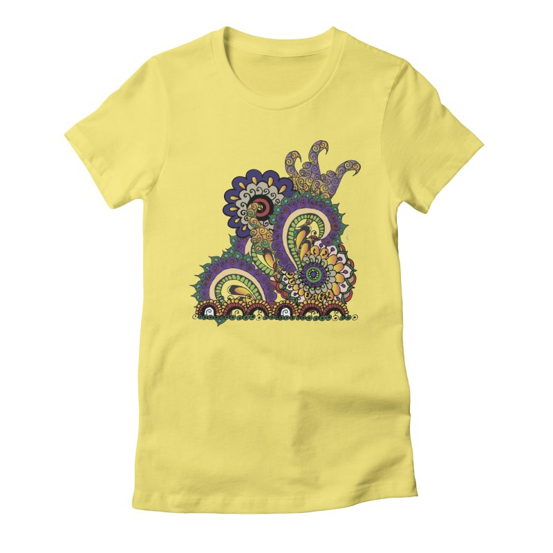 Sea Coral Women's Fitted T-Shirt by Iythar's Artist Shop
