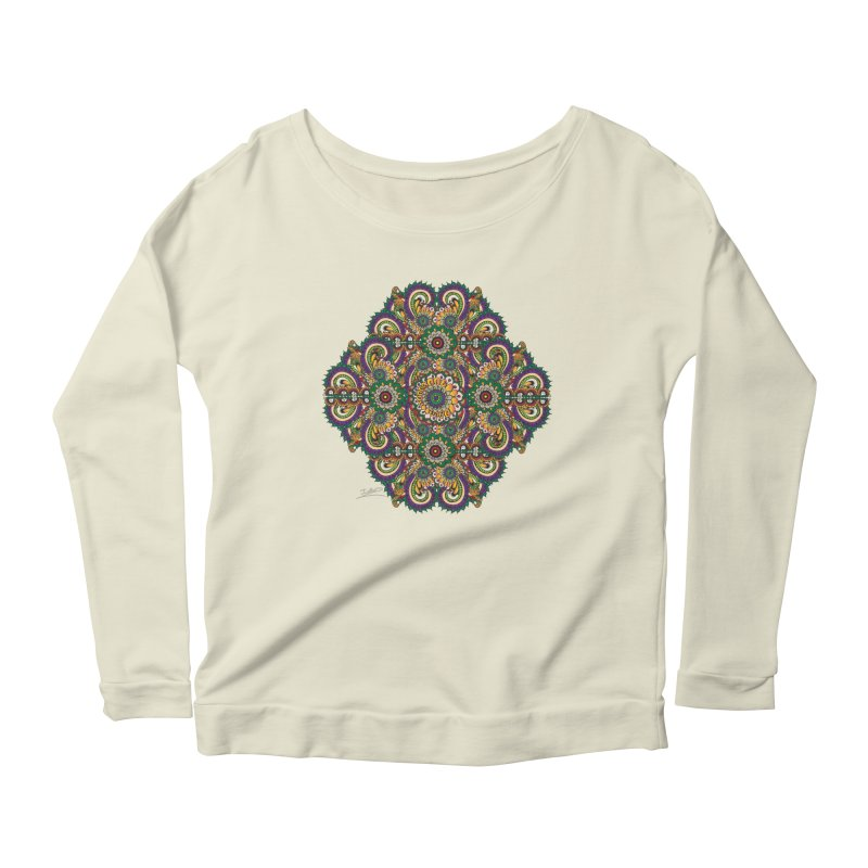 Tree Hugger Women's Longsleeve Scoopneck  by Iythar's Artist Shop