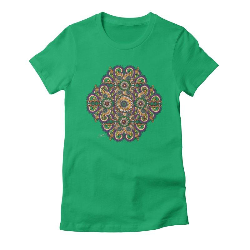 Tree Hugger Women's Fitted T-Shirt by Iythar's Artist Shop