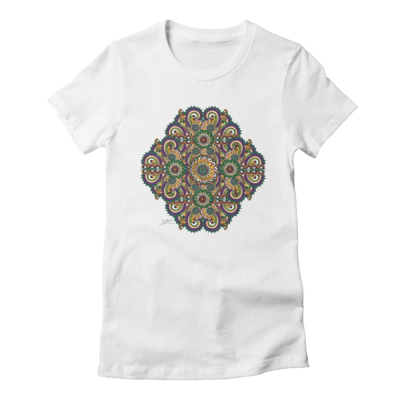 Tree Hugger Women's Fitted T-Shirt by Iythar's Artist Shop