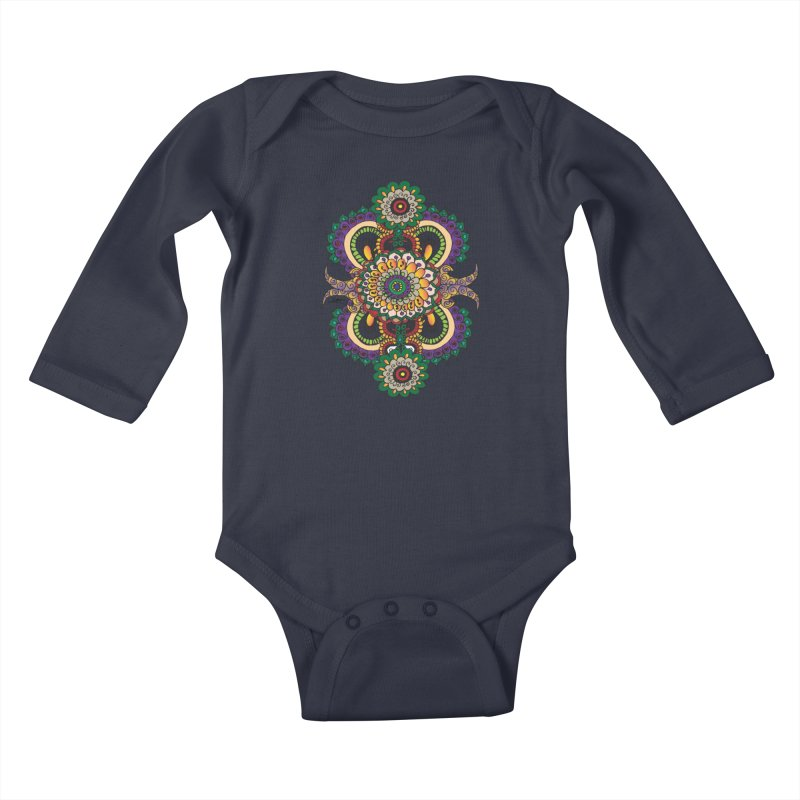 Indian Summer Kids Baby Longsleeve Bodysuit by Iythar's Artist Shop