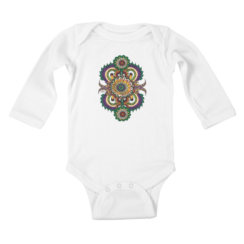 Indian Summer Kids Baby Longsleeve Bodysuit by Iythar's Artist Shop
