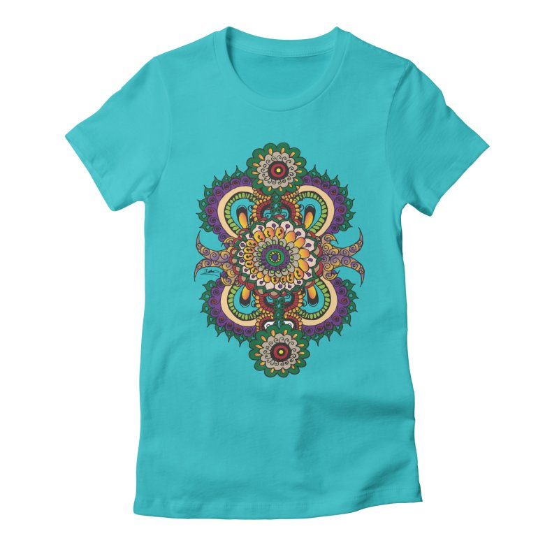 Indian Summer Women's Fitted T-Shirt by Iythar's Artist Shop