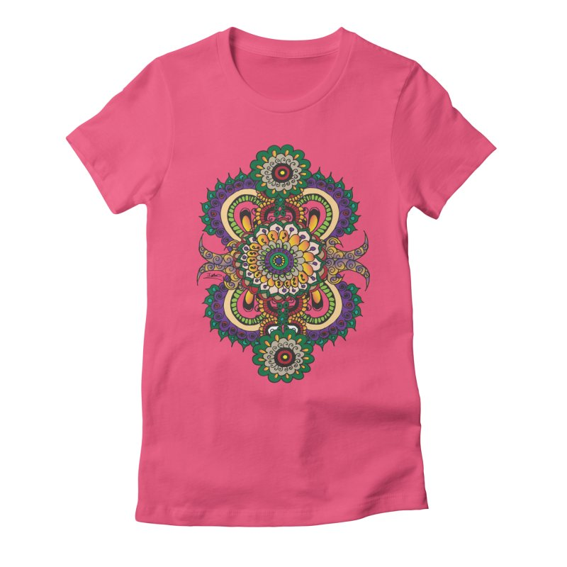 Indian Summer Women's Fitted T-Shirt by Iythar's Artist Shop