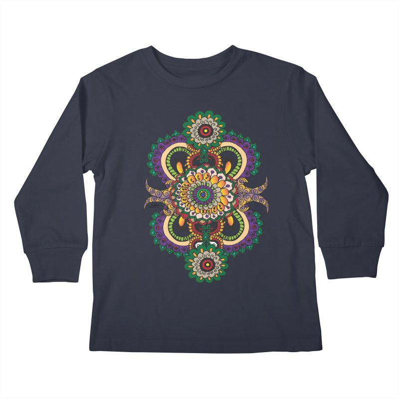 Indian Summer Kids Longsleeve T-Shirt by Iythar's Artist Shop