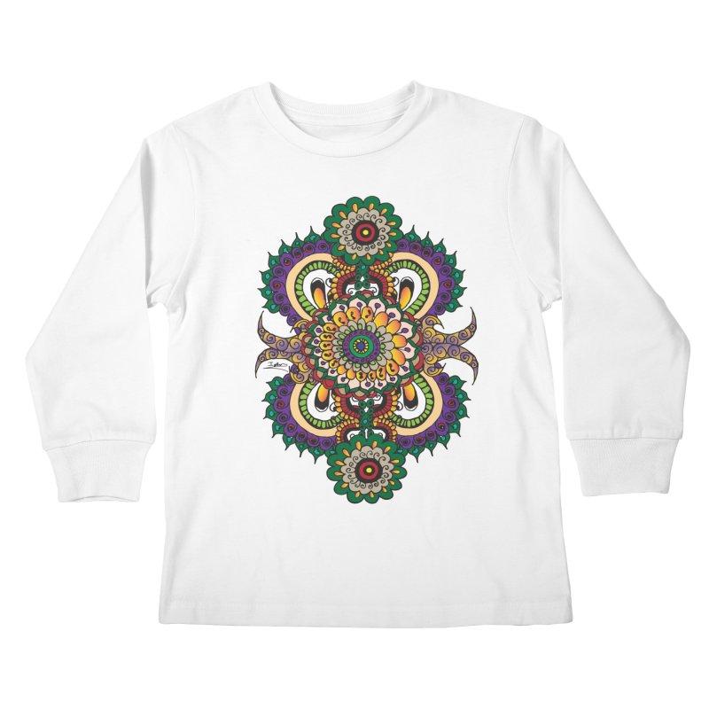 Indian Summer Kids Longsleeve T-Shirt by Iythar's Artist Shop