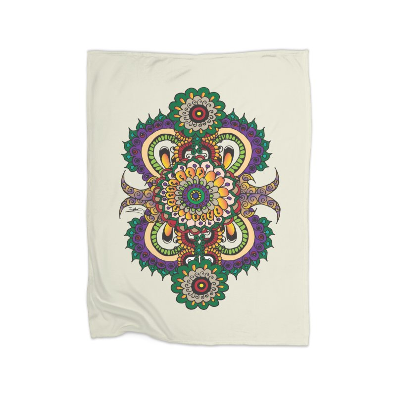 Indian Summer Home Fleece Blanket Blanket by Iythar's Artist Shop