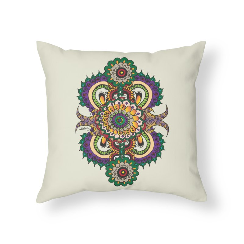 Indian Summer Home Throw Pillow by Iythar's Artist Shop