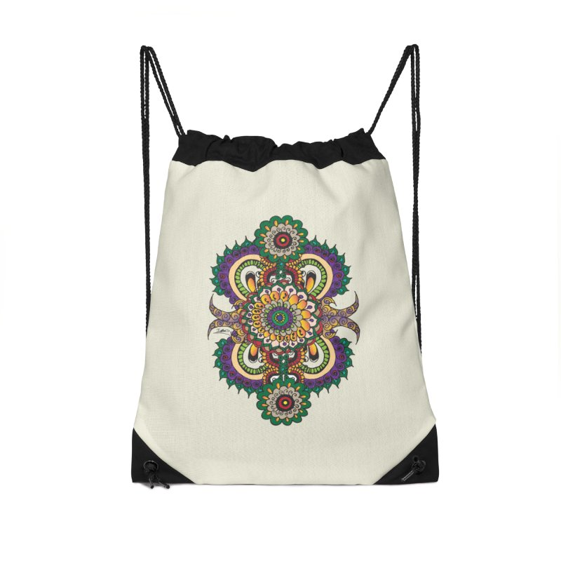 Indian Summer Accessories Drawstring Bag Bag by Iythar's Artist Shop