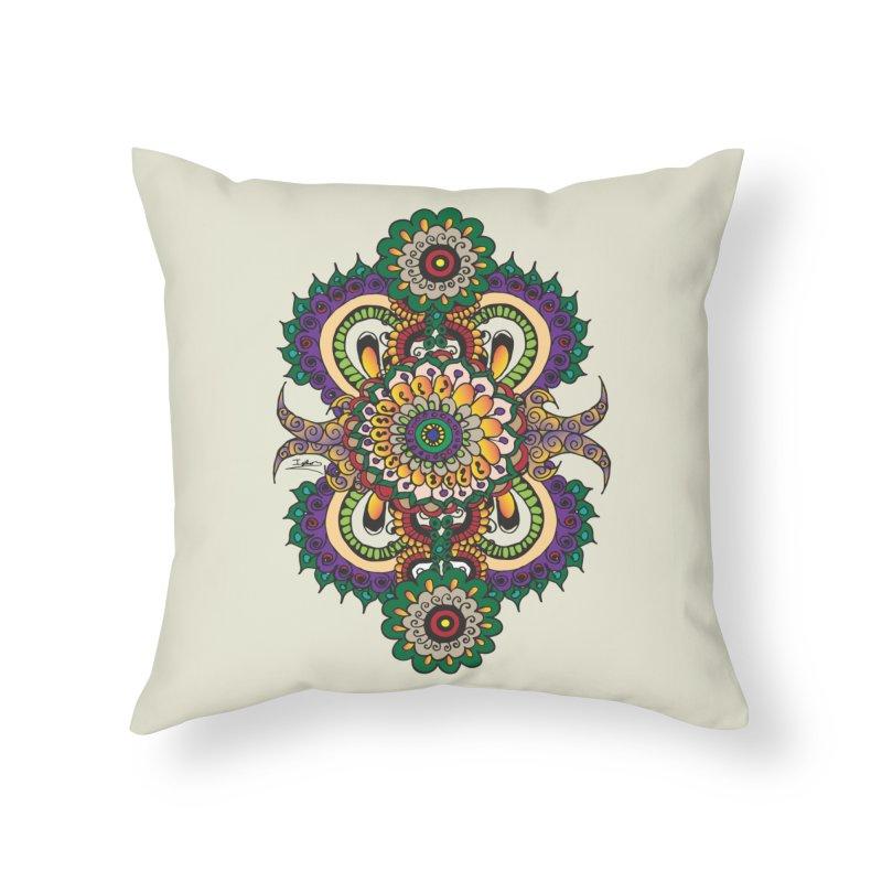 Indian Summer Home Throw Pillow by Iythar's Artist Shop