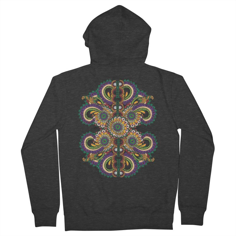 Chakras On LSD Women's French Terry Zip-Up Hoody by Iythar's Artist Shop