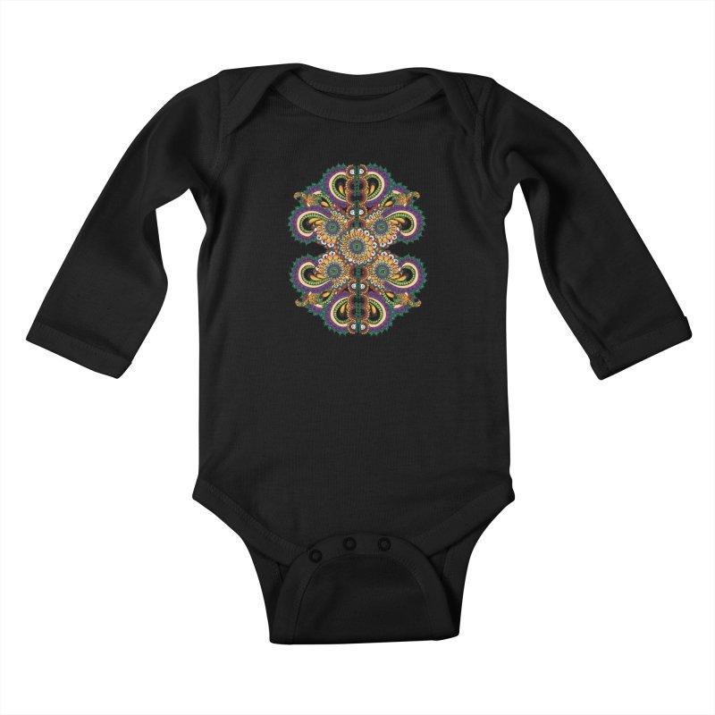 Chakras On LSD Kids Baby Longsleeve Bodysuit by Iythar's Artist Shop