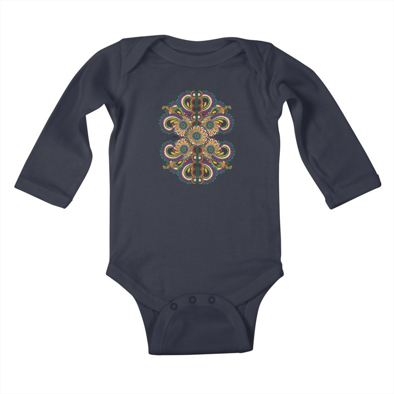 Chakras On LSD Kids Baby Longsleeve Bodysuit by Iythar's Artist Shop