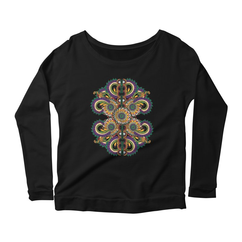 Chakras On LSD Women's Scoop Neck Longsleeve T-Shirt by Iythar's Artist Shop